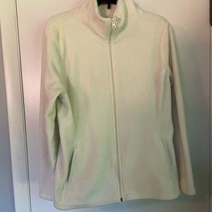 Cream Fleece Zip Sweatshirt